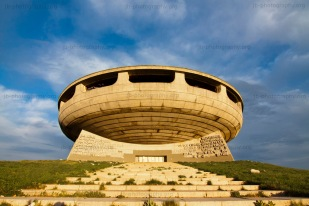 The Buzludzha monument in early morning light